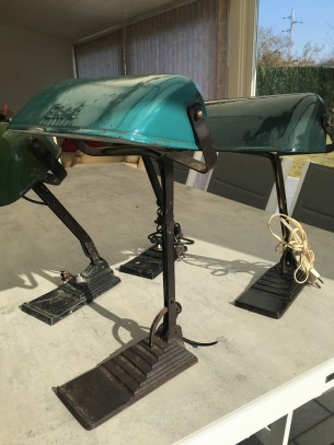 Vintage industriële ERPE lamp