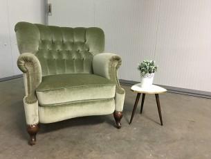 Vintage groene zetel