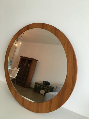 vintage spiegel in hout
