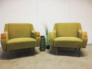 Set van 2 vintage zetels