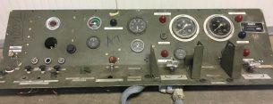 vintage industriële dashboard/dashbord