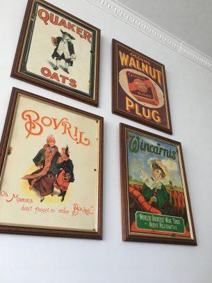 vintage wanddecoratie/kaders