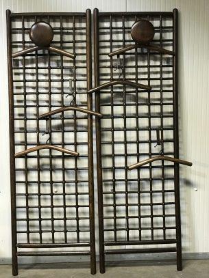 retro wandkapstok bestaande uit 2 elementen