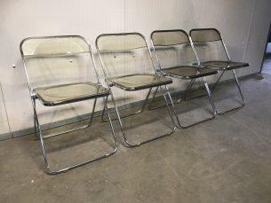 set van 4 design stoelen 'Castelli Pila'