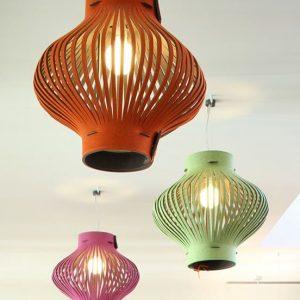 Set van 3 XL designer hanglampen